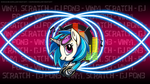 Vinyl Scratch Badge Wallpaper by Starbolt-81