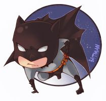 Batman  chibi by XMenouX