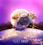 Daily Paint 1485. Fleece Navidad by Cryptid-Creations