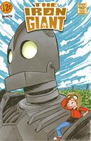 The Iron Giant faux comic cover by Exeivier