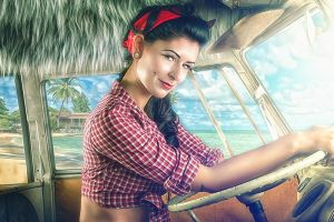 Holiday Pin up by flause