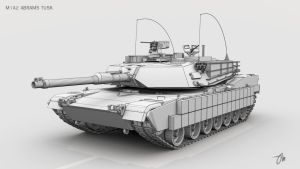 M1A2 Abrams TUSK Wireframe by JasonMartin3D