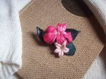 Floral Polymer Clay Brooch by ChrisOnly