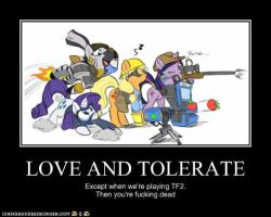 Love and Tolerate by Zombieapple224
