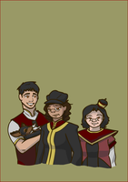 Fire Nation Family by ThaiffelTower