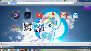 rainbow and rooted chrome theme by LPSfreak