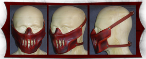 Hannible Leather Mask by OnismithCreations