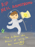 RIP Neil Armstrong by Otterlore
