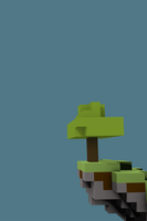 Minecraft Overhang Iphone by reckt3r
