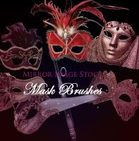 Mask Brushes by mirrorimagestock