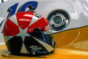 Eddie Cheever's Helmet (Germany 1983) by F1-history