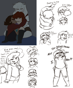 This went from fluff to angsty Frisk by Channydraws