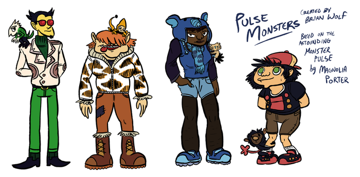 Pulse Monsters by BrianDanielWolf