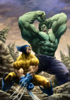 Wolverine vs Hulk by Yardin and Colwell by JeremyColwell