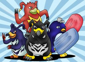 Penguins of the Digital World by techan