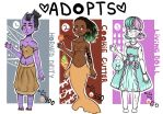 Monster Gal Adopts by TinyTimelord