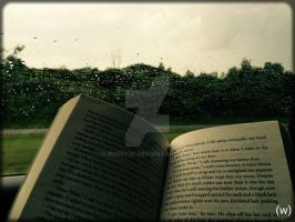 Reading In The Rain by Rosey30