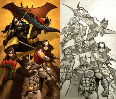bat family now and then by hupao