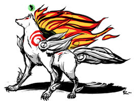 """Okami""- Amaterasu by WillJonesArt"
