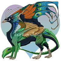 Peacock Skydancer Male by carnivaleart