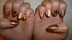 Hobbit Nail Art by whosherlokid