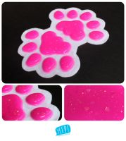 Silicone pads (pink hearts) by yeep-yeep
