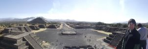 Panoramic Teotihuacan by bbmbbf