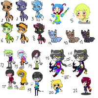 Mixed Batch 2 - (EACH FOR 10 POINTS ONLY) [OPEN] by FunkyDreamer