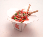 Miniature chinese food/ take out, ramen, noodles, by MiniSweetx