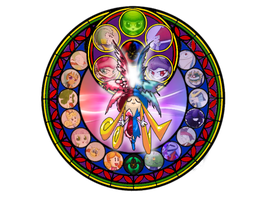 Shyna Nera Shyna Stained glass KH style by peridive78