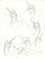 Nightmare Moon Sketches by Valkyrie-Girl