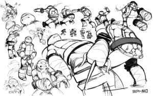 Raph Sketches by R0K-MO