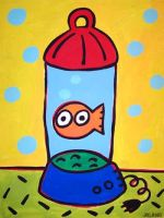 tickles goldfish in a blender by jeleneart