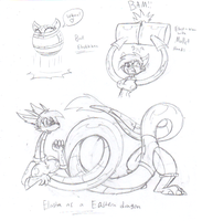 Elasta Vixen TF doodles 2 by dragovian15