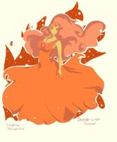 A thankyou for 16 followers. Flame Princess! by Endette