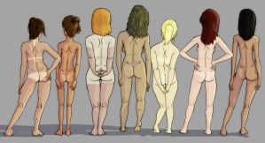 Birthday Suit: backsides by AtticusFinchlee
