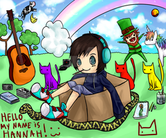 Hannah in a Box with Rainbows by ninjamuffin63