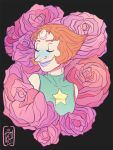 Pearl In Roses by iisjah