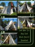 Civil War Pup Tent Pack 2 by WDWParksGal-Stock