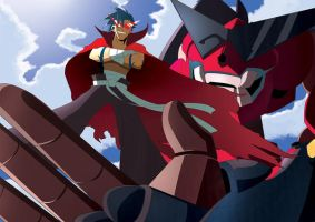 Kamina and Gurren by tinysaucepan