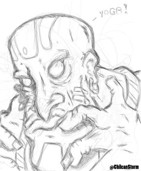 Dhalsim Tablet Sketch by MindMage