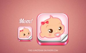 Baby app icon by junoteamvn