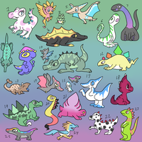 25 Free Dinosaurs ~ All taken by Torotix