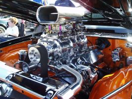 Big Block Chevy Camaro closeup by FreeStyle44256
