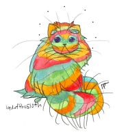 warped fruitstripe persian cat by HiddenStash