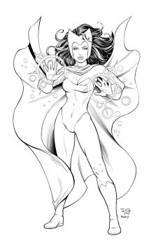 Scarlet Witch with Paris by mechangel2002