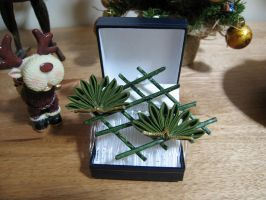 Small Pine kanzashi by siren10101
