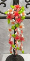 Peach blossom kanzashi (updated photo) by EruwaedhielElleth