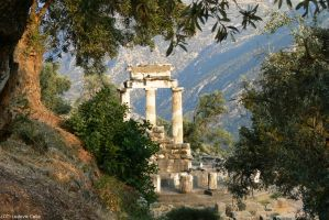 Greece - Delfi - Athena temple 02 (HD) by Ludo38