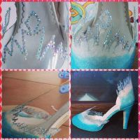 my Elsa (Frozen) shoes by FrancescaMisa